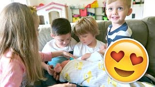 KIDS REACTIONS TO THEIR NEW SIBLING!