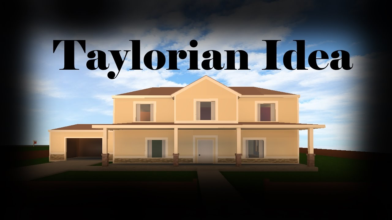 Roblox taylorian mansion house idea / speed build - YouTube