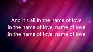 In The Name Of Love By Martin Garrix & Bebe Rexha (Lyrics)