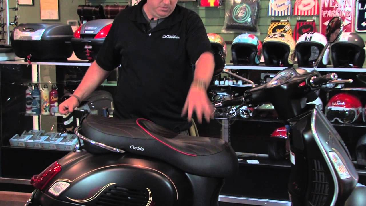 San Diego Honda >> Custom Corbin Seats for modern Vespas! - YouTube