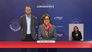 Gobierno entrega nuevo balance de situación del país por COVID-19 | 24 Horas TVN  Chile