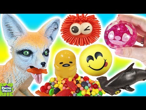 Cutting Open CRAZY Fox Toy! What's Inside Squishy Toys And Stress Balls! Doctor Squish