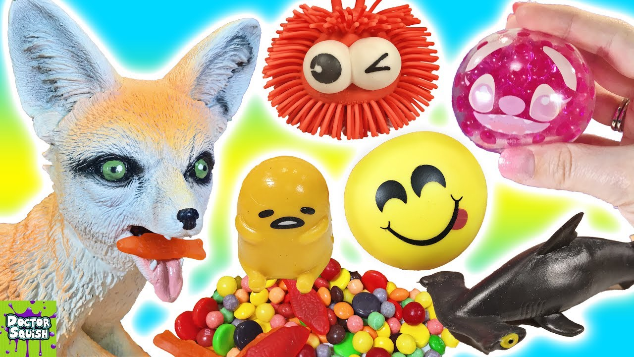 Squishy Toys With Stuff Inside : Cutting Open Squishy Fox Toy! What s Inside Squishy Toys And Stress Balls! Doctor Squish - YouTube