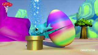 Little whale in monster egg play