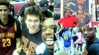 i met lebron james jesserthelazer lsk cavs vs warriors playoffs game 6 trash talking curry fans