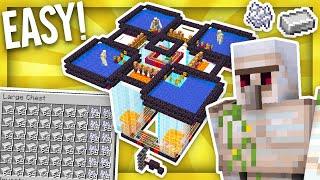 Fully Automatic Minecraft Iron Farm 1.16 Tutorial   6 Stacks of Iron per HOUR!