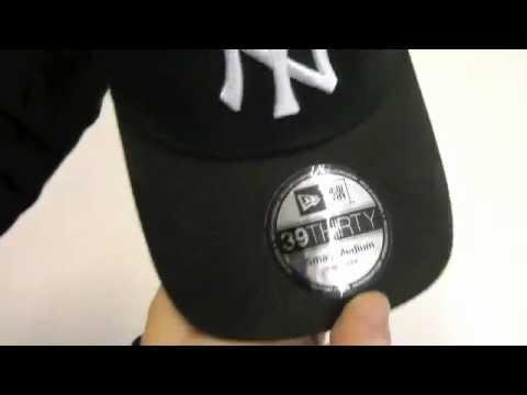 a0af90ea9 NEW ERA 3930 MLB LEAGUE BASIC NY BLACK WHITE - YouTube