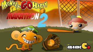 Monkey GO Happy Marathon 2 Walkthrough All Levels HD