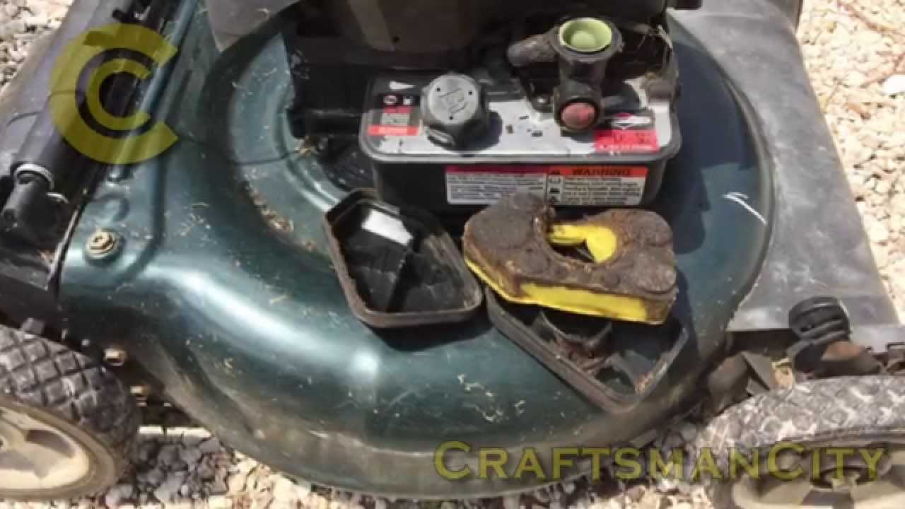 Lawn Mower Air Filter Fix Improvised Air Filter Repair v1b YouTube