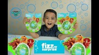 FIZZ n SURPRISE DINOSAUR EGGS, SURPRISE TOYS UNBOXING, Bath Bomb Fizzies