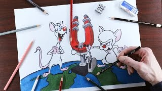 Pinky and the Brain Speed Drawing!