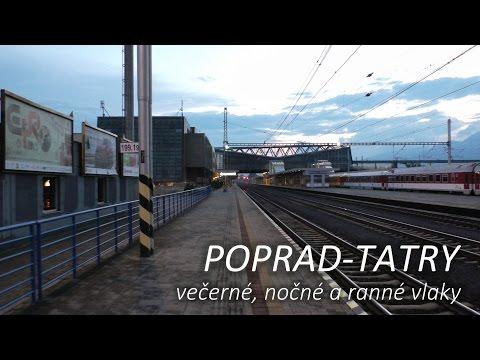 Poprad-Tatry - večerné, nočné a ranné vlaky 02.-03.07.2016