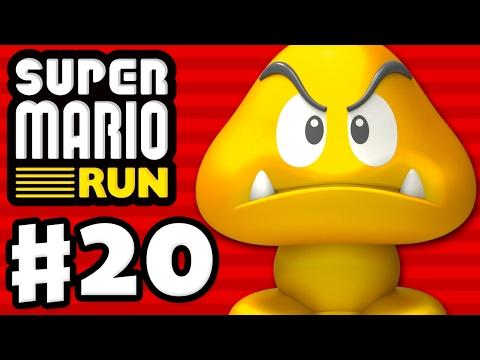Super Mario Run - Gameplay Walkthrough Part 20 - Gold Goomba Statue! World Tour! (iOS)