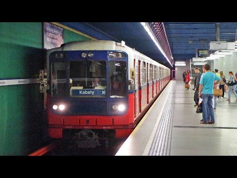 Warsaw Metro M1 - Metrowagonmash 81 , Poland
