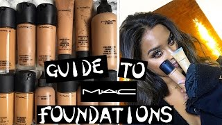 Guide to M.A.C FOUNDATIONS -which one is BEST for YOU! NikkisSecretx