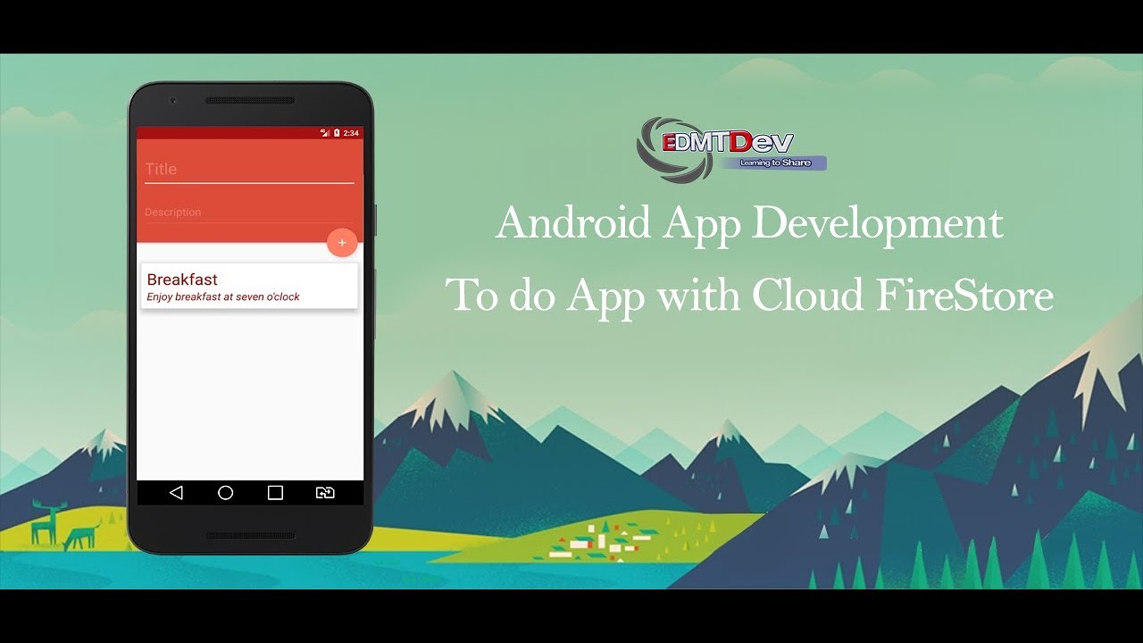 Android Studio Tutorial - To Do App with Cloud FireStore