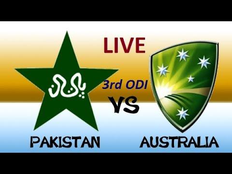Pakistan Vs Australia 3rd ODI live score stream