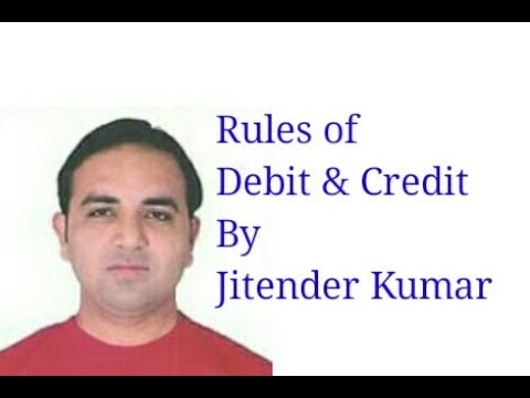 Rules of Debit and Credit- By Jitender Kumar