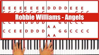 ♫ EASY - How To Play Angels Robbie Williams Piano Tutorial Lesson - PGN Piano