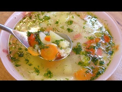 Рецепт Детский овощной суп / How to make Children's vegetable soup  English subtitles