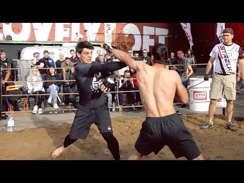 WUSHU MASTER with TOP GUN vs 2 MMA Fighters !!!