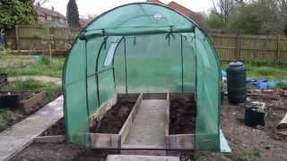 16 April 2014 new polytunnel