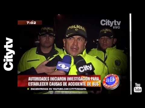 Citytv: Grave accidente de un bus en la vía Zipaquirá - Ubaté