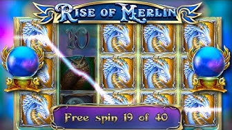 x??? win / 40 free spins! / Rise of Merlin free spins compilation! #2