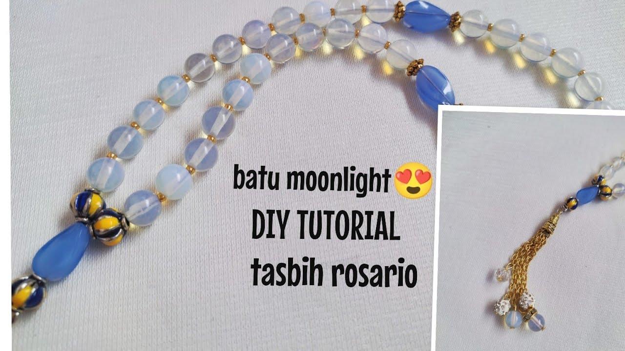 ❤️ DIY TUTORIAL CARA BIKIN TASBIH ROSARIO BATU MOONLIGHT ide bisnis easy jewelry