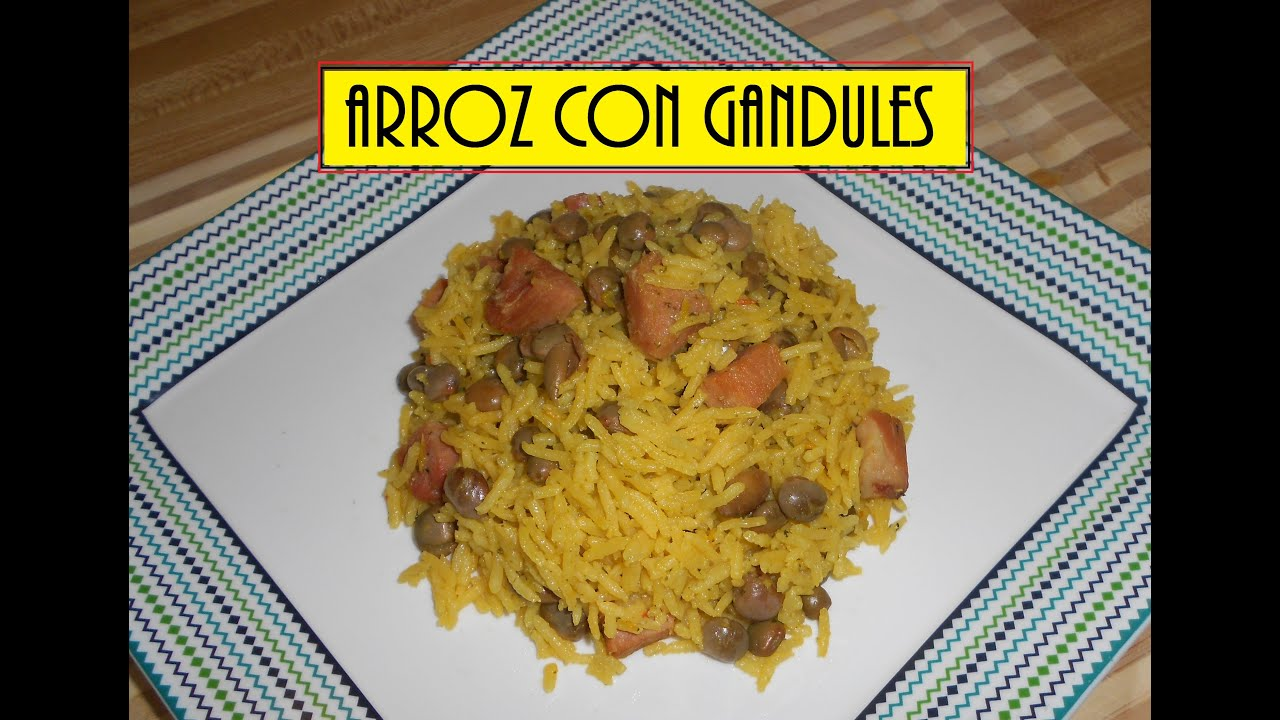 Arroz con gandules puertorrique o youtube - Arroz con verduras y costillas ...