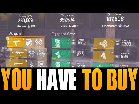 THE DIVISION - 7 THINGS YOU NEED TO BUY RIGHT NOW! GOD ROLL WEAPONS, GEAR & GEAR MODS