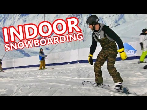 FIRST EVER INDOOR SNOWBOARDING + TRAVEL VLOG