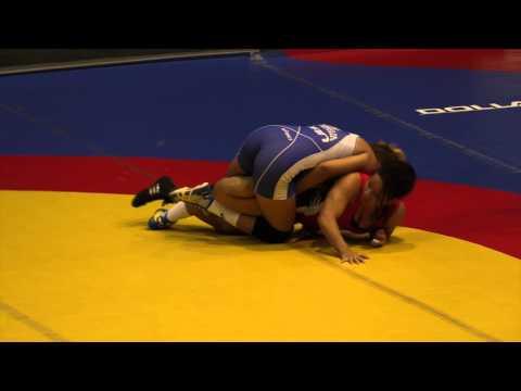 2014 Junior Pan-American Championships: 59 kg Paula Sanchez (ECU) vs. Braxton Papadopoulos (CAN)