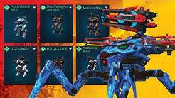 War Robots - Spider Bot Rayker NERFING Everything In Sight! Dream Hangars Episode 24 | WR Gameplay