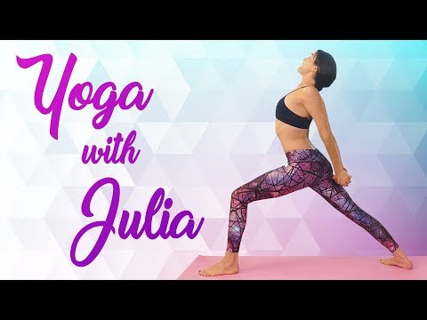 Calming Yoga with Julia ♥  No Pressure on Wrists or Shoulders, Beginners Class for Flexibility