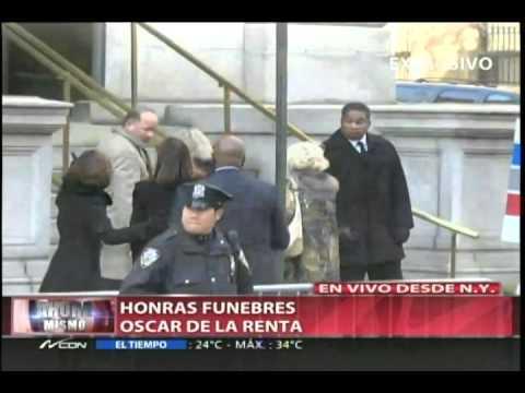 Honras fúnebres de Oscar de La Renta (Parte 1)