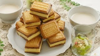 塩 キャラメル チーズ ケーキの クッキー サンド のレシピを作り方を動...