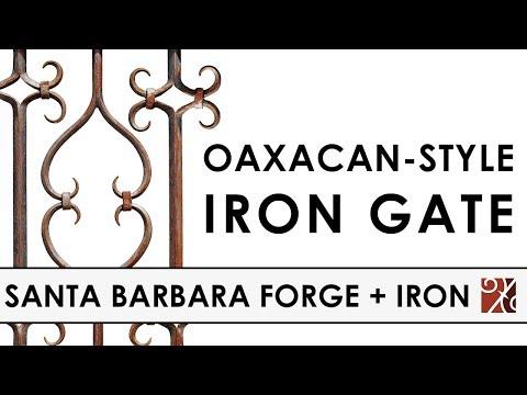 Santa Barbara Forge + Iron: Oaxacan Style Wrought Iron Gate