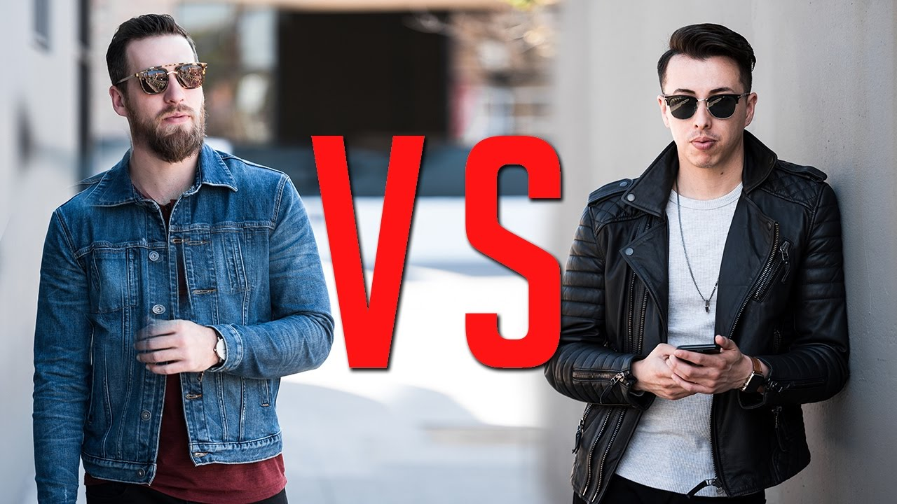 Leather jacket vs motorcycle jacket - Denim Vs Leather Jackets Which Is More Bad Ass Gent S Lounge