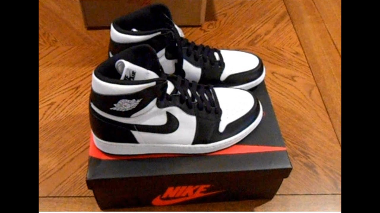 "White Retro: Air Jordan 1 Retro High OG ""Black/White"" Unboxing, Review"