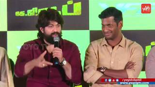 Actor Yash speech about his Father a bus driver |  KGF Tamil Press Meet | YOYO TV Tamil