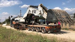 Transporting The Cat 375 Excavator - Fasoulas Heavy Transports