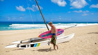 SURFING AND SAILING IN PARADISE (HAWAII)