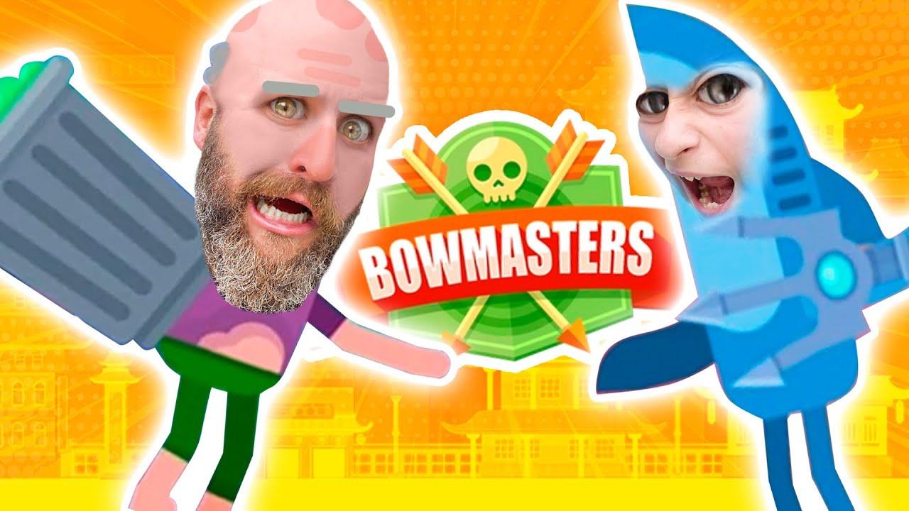 Ultimate Bowmaster? Jeremy vs Shark and Chang Wu King vs Neko Battle Bowmasters Style