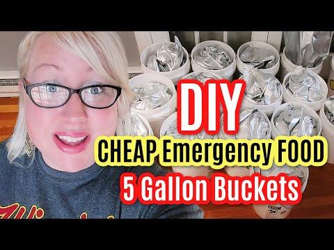 CHEAP DIY EMERGENCY LONG TERM FOOD STORAGE 5-GALLON BUCKETS with MYLAR! Large Family Food Prep!!
