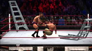 WWE 2K14: TLC Simulation: Randy Orton Vs. John Cena (TLC Title Unification)