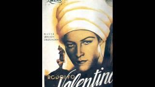 Afiche y musica pelic  El Hijo del Caid  1926