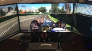 "Racing Simulation, 3 x 50"" Screen setup, PC Ultimate Driving Experience"