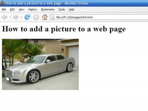 How to Create Web Pages Using HTML : How to Add a Picture ...