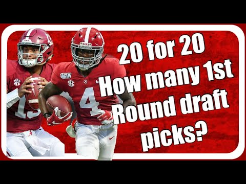 How Many 1st Round Picks In The NFL Draft For The Alabama Crimson Tide?